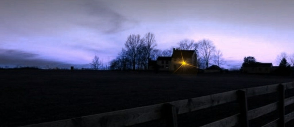 This image has an empty alt attribute; its file name is house-with-light.jpg